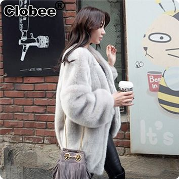2017 6XL Winter Warm Fur Coat Fsahion Long Women Black Faux Mink Fur Vest Faux Fur Coat Fox Fur Coat Colete Feminino Jackets