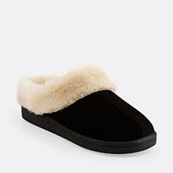 Cow Suede Slipper Black Suede - Womens Slippers - Lounging Slippers for Home - Clarks® Shoes