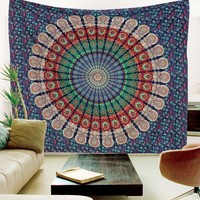Large Indian Mandala Wall Hanging, Indian Tapestry, Mandala Tapestries, Hippie Tapestry, Bohemian Tapestries, Queen