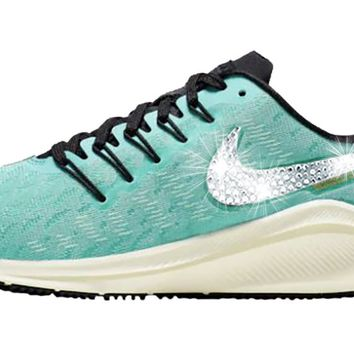 Women's Nike Air Zoom Vomero 14 + Crystals - Hyper Jade/Black/Sail/Sapphire/Laser Orange