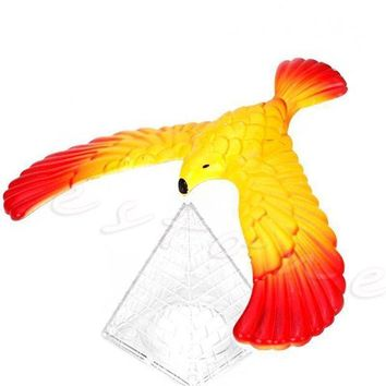 CREYONV new magic balancing bird science desk toy w base novelty eagle fun learn gag baby child gift