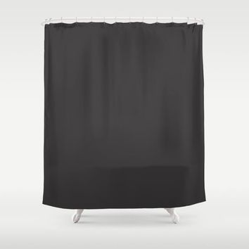 Midnight Black Shower Curtain by spaceandlines