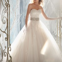 Mori Lee 1959 Lace and Tulle Wedding Dress