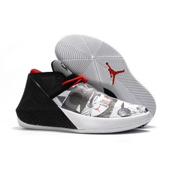 "Air Jordan Why Not Zer0.1 ""Black White Gray Red"" - Best Deal Online"