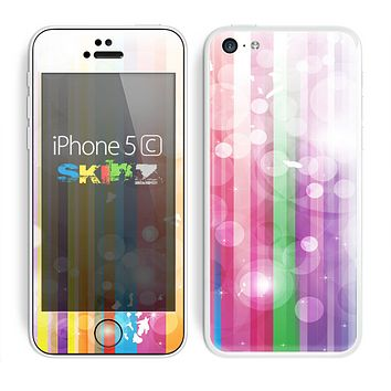 The Unfocused Color Vector Bars Skin for the Apple iPhone 5c