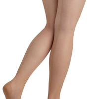 ModCloth Film Noir Seam to It Thigh Highs in Beige