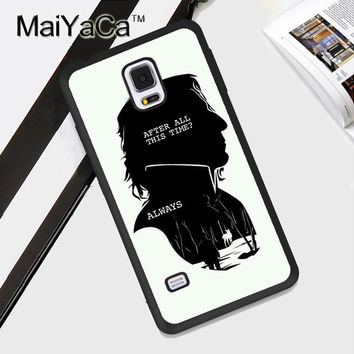 Severus Snape Harry Potter Always Soft TPU Back Case Cover For Samsung Galaxy Note 3 4 5 S3 S4 S5 S6 S7 Edge S8 Plus Phone Case