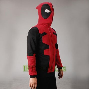Deadpool Dead pool Taco 2017  Hoodie Marvel Hooded Men Sweatshirt Zipper Outerwear Jacket 3D Anime Characters Hoodies  Cosplay Costume AT_70_6