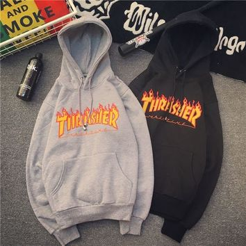 Fashion Men's hoodie sweaters Hip-hop skateboard Thrasher Women Sweatshirts 2017