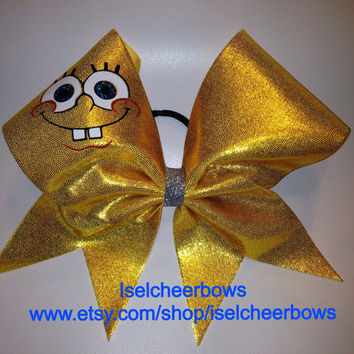 Spongebob custom cheer bow