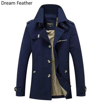New Brand 2017 Spring New Long Men's Clothing Coat Coat To Increase The Long Section Of Men's Windbreaker