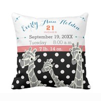 Customized Cushion cover for Nursery-Giraffe