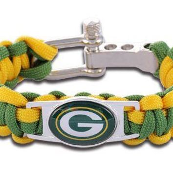 NFL - Green Bay Packers Custom Paracord Bracelet