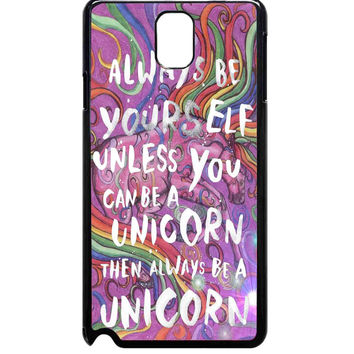 Colorful Rainbow Unicorn For Samsung Galaxy Note 3 Case ***