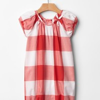 Gingham Bow One Piece