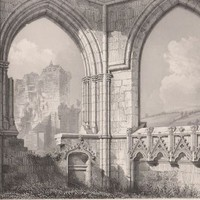 Antique Print Crossraguel Abbey - East end of the Choir Scotland (A48) by Grandpa's Market