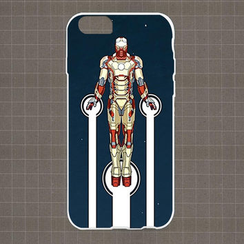 Ironman Fly night iPhone 4/4S, 5/5S, 5C Series Hard Plastic Case
