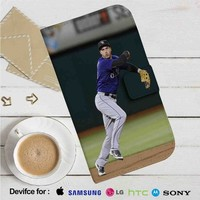 Nolan Arenado Colorado Rockies Baseball Leather Wallet iPhone 4/4S 5S/C 6/6S Plus 7| Samsung Galaxy S4 S5 S6 S7 NOTE 3 4 5| LG G2 G3 G4| MOTOROLA MOTO X X2 NEXUS 6| SONY Z3 Z4 MINI| HTC ONE X M7 M8 M9 CASE