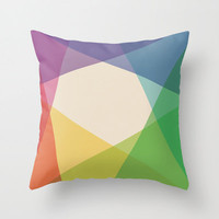 "20""x20"" Colorful Geometric Throw Pillow COVER ONLY"