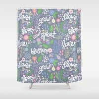 How Does Your Garden Grow Shower Curtain by Noonday Design   Society6