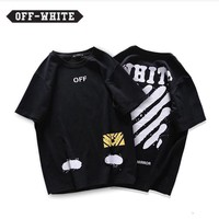 ABSPBEST Off-white Black T-shirt