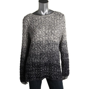 Lauren Ralph Lauren Womens Plus Knit Marled Pullover Sweater