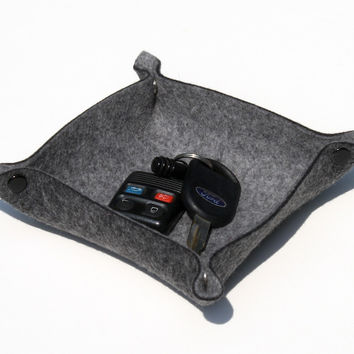 Mini Valet Tray in 3mm Thick Virgin Merino Wool Felt