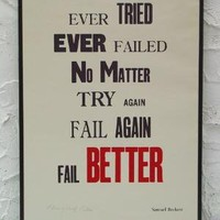 Fail Better Letterpress Print by aardvarkonsea on Etsy