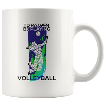 I'd Rather Be Playing Volleyball Gift Mug