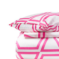 Kate Spade Bow Tile Comforter Set Shocking Pink