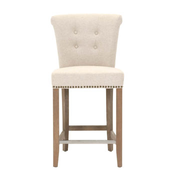 Luxe Counter Stool Jute Fabric