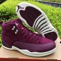 Air Jordan Retro 12 Discount PSNY Bordeaux AJ12 Cheap Sale JD 12 Men Women Sports Basketball Shoes With Box