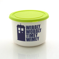 Dr. Who Tardis, leftovers bowl with silicon lid