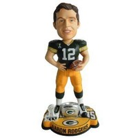 NFL Aaron Rodgers Green Bay Packers Super Bowl XLV Champions Ring Base Bobblehead