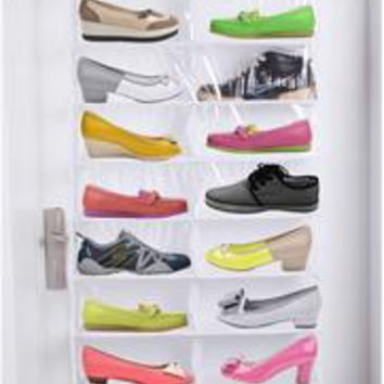 Lesort Over the Door Hanging Shoe Organizer Storage Holder Sorter For 26 Pairs Shoes Rack Hanger Storage Organizer