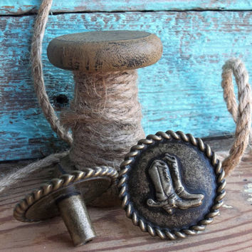 Western Furniture Hardware,Rustic Cabinet Pulls,Cowboy Boot Knob Decor