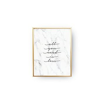 All You Need Is Less in Marble Mini Art Print