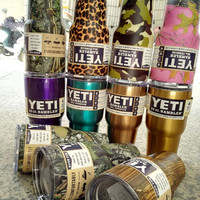Leopard Pink Camo Color Yeti Cups 30 oz Ramber Tumbler Mugs Stainless Steel Material Camouflage Yeti With Logo for Christmas