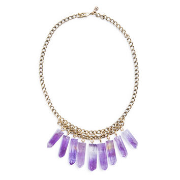 Cali Crystal Necklace | Gold / Amethyst
