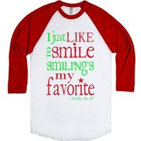 Smiling's My Favotire - Buddy-Unisex White/Red T-Shirt