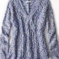 AEO Women's Cable Knit V-neck Sweater