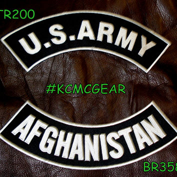 Military Patch Set U.S. Army Afghanistan Embroidered Patches Sew on Patches for Jackets