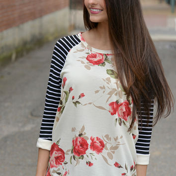 Come Into Bloom Top