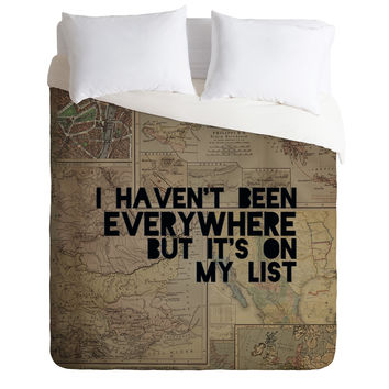Leah Flores Everywhere Duvet Cover