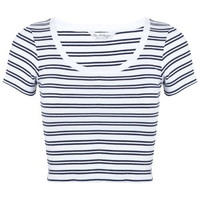 Stripe Round Neck Rib Tee - Apparel - New In