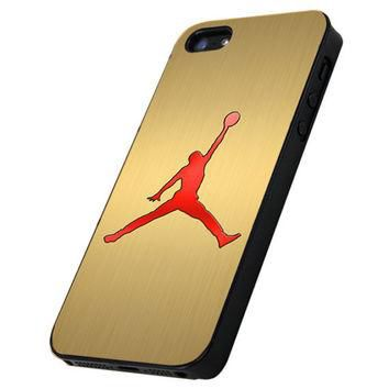 Air Jordan Nike Gold Logo - Print Hard Case iPhone 4/4s or iPhone 5 Case - Black or Wh