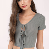 Becca Lace Up Crop Top