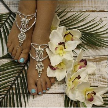 IMPERFECT PRINCESS wedding barefoot sandals