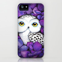 Snowy Owl iPhone & iPod Case by Annya Kai