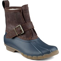 Women's RIP Water Duck Boot in Brown/Navy by Sperry